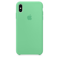 Накладка Silicone Case для iPhone Xs Max (Spearmint)