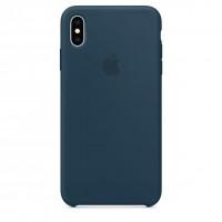 Накладка SIlicone Case для iPhone Xs Max (Pacific Green)