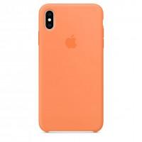 Накладка Silicone Case для iPhone Xs (Papaya)