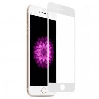 Защитное стекло 9D для iPhone 6/6s (белый)