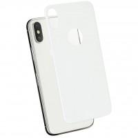 Заднее защитное стекло Baseus для iPhone X (Белое)