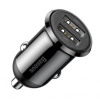 АЗУ Baseus Grain Pro Car Charger Dual USB 4.8A CCALLP-01 (черный)
