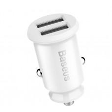 Автомобильное зарядное Baseus USB 5V 3.1A CCALL-ML02 (белый)