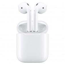 Bluetooth наушники AirPods 2 в зарядном футляре (белый)