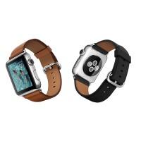 Кожаный ремешок для Apple Watch 38/40mm (коричневый)