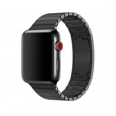 Блочный браслет для Apple Watch 38/40мм (черный)