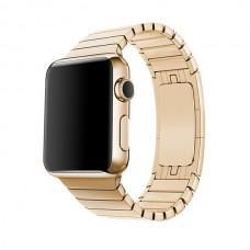 Блочный браслет для Apple Watch 38/40мм (золото)