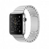 Блочный браслет для Apple Watch 42/44мм (серебро)