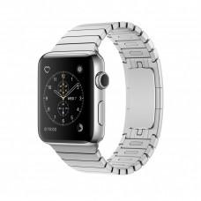 Блочный браслет для Apple Watch 38/40мм (серебро)