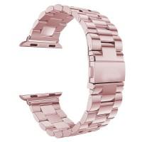 Стальной блочный браслет для Apple Watch 38/40mm (Rose Gold)