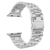 Стальной блочный браслет для Apple Watch 38/40mm (Silver)