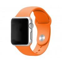 Силиконовый ремешок для Apple Watch 38/40mm (Orange)