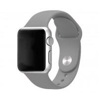 Силиконовый ремешок для Apple Watch 42/44mm (Light Gray)