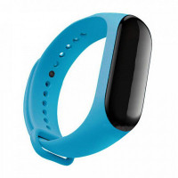 Силиконовый ремешок для Mi Band 5 (голубой)