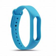 Силиконовый ремешок для Mi Band 2 (голубой)
