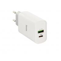 Сетевое зарядное устройство HOCO C80A USB Type C PD20W QC3.0 (белый)