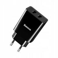 Сетевое зарядное устройство Baseus Speed Mini Dual U Charger 2xUSB 10.5W (черный)