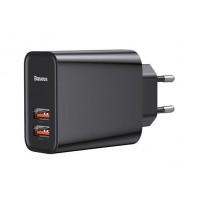 Baseus Speed Dual QC3.0 Quick charger USB+USB 30W CCFS-E01